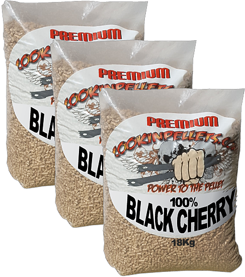3 BBQ Smokin' CookinPellets® 3x18Kg Premium Black Cherry